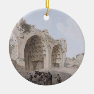 View in the Roman Forum (The Temple of Peace) 1779 Ceramic Ornament