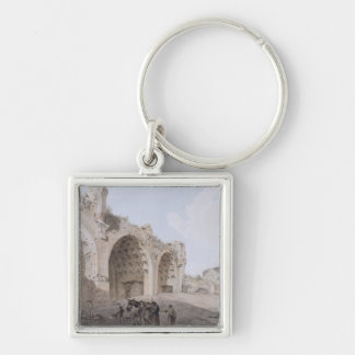 View in the Roman Forum (The Temple of Peace) 1779 Keychain