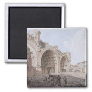 View in the Roman Forum (The Temple of Peace) 1779 Magnet