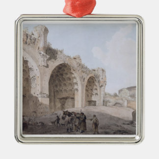 View in the Roman Forum (The Temple of Peace) 1779 Metal Ornament