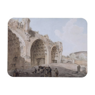 View in the Roman Forum (The Temple of Peace) 1779 Rectangular Photo Magnet