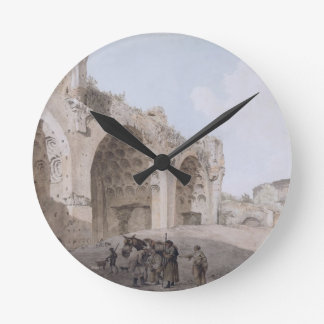 View in the Roman Forum (The Temple of Peace) 1779 Round Clock