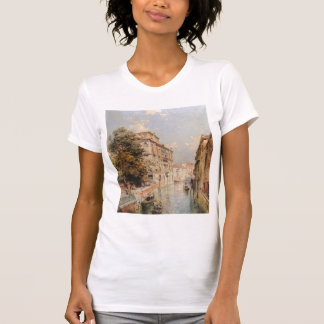 View in Venice, Rio S. Marina by Franz Unterberger T-shirt