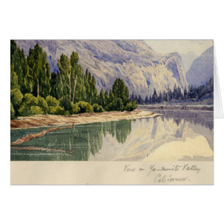 View in Yo-Semite Valley California Card