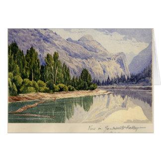 View in Yo-Semite Valley California Greeting Card