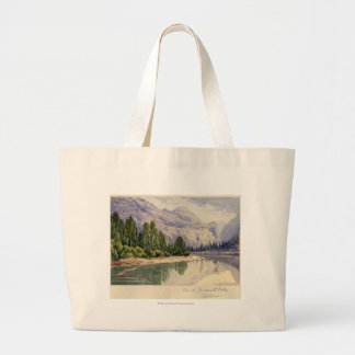 View in Yo-Semite Valley California Jumbo Tote Bag