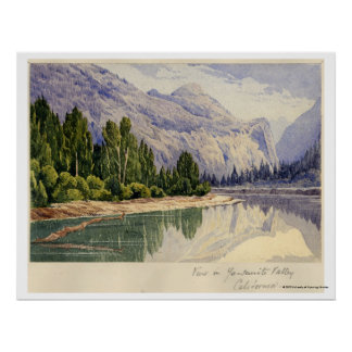 View in Yo-Semite Valley California Poster