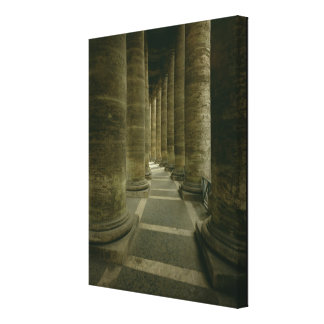 View inside the colonnade canvas print