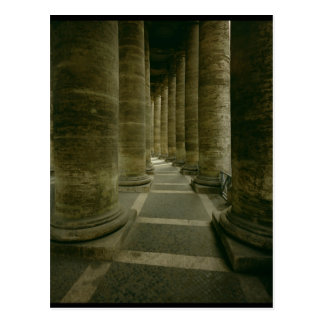 View inside the colonnade postcard