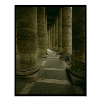 View inside the colonnade poster