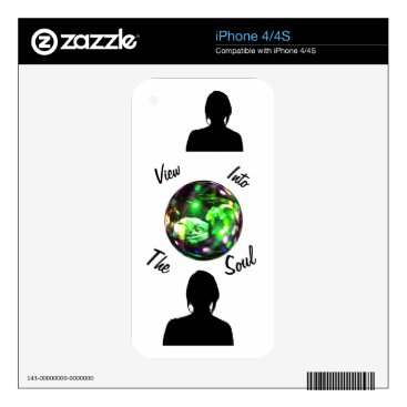 View Into The Soul - Ultrasound Baby Version Decal For iPhone 4