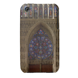 View looking west from the nave, rose window desig iPhone 3 cases