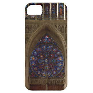View looking west from the nave, rose window desig iPhone SE/5/5s case