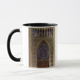 View looking west from the nave, rose window desig mug