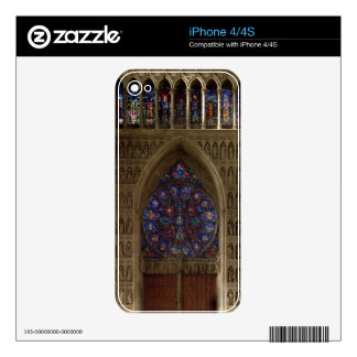 View looking west from the nave, rose window desig skins for iPhone 4S