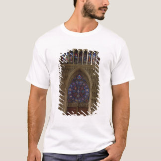 View looking west from the nave, rose window desig T-Shirt