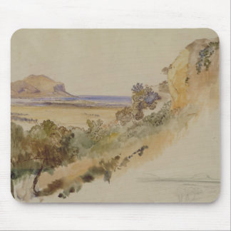 View near Palermo, 1847 (pen & ink with w/c over p Mouse Pad