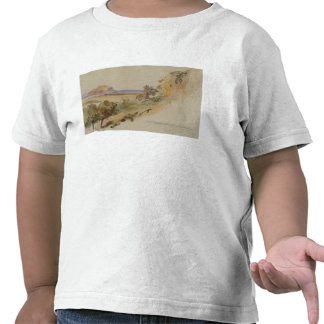 View near Palermo, 1847 (pen & ink with w/c over p T-shirt