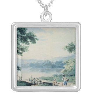 View near Virginia, County Cavan Silver Plated Necklace