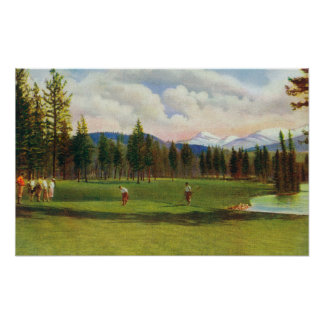View of 14th Green Poster