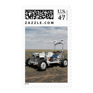 View of a 1-G Lunar Rover Vehicle Postage