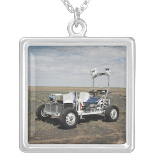 View of a 1-G Lunar Rover Vehicle Silver Plated Necklace