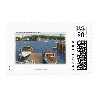View of a Boat Landing and the Shore Postage