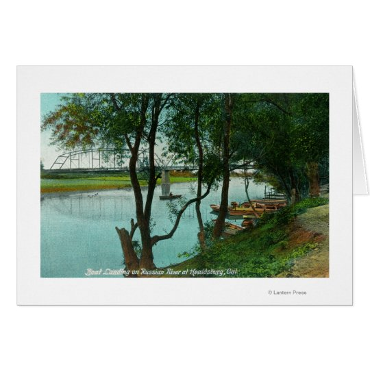 View of a Boat Landing on the Russian River Card
