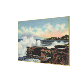 View of a Breaker on West Cliff Drive Canvas Prints