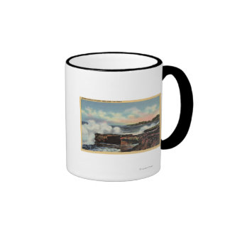 View of a Breaker on West Cliff Drive Mugs