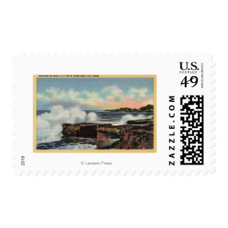 View of a Breaker on West Cliff Drive Stamps