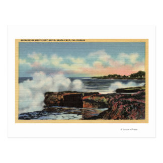 View of a Breaker on West Cliff Drive Post Cards