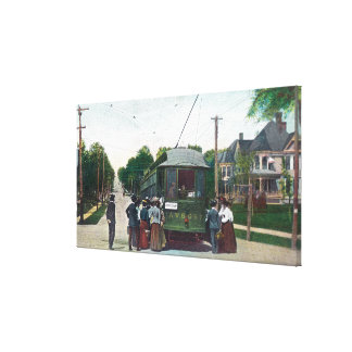 View of a Cable Car on Western Avenue Canvas Print