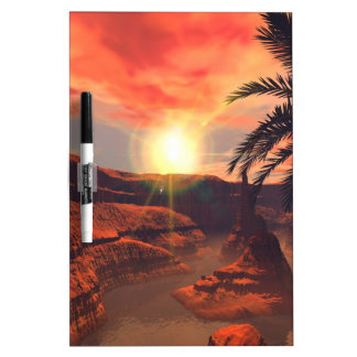 View of a canyon with red sandstone in the sunset Dry-Erase board
