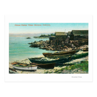 View of a Chinese Fishing Village Postcard