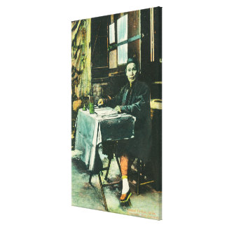 View of a Chinese Fortune Teller Stretched Canvas Prints
