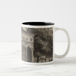 View of a Church in Bucharest Two-Tone Coffee Mug