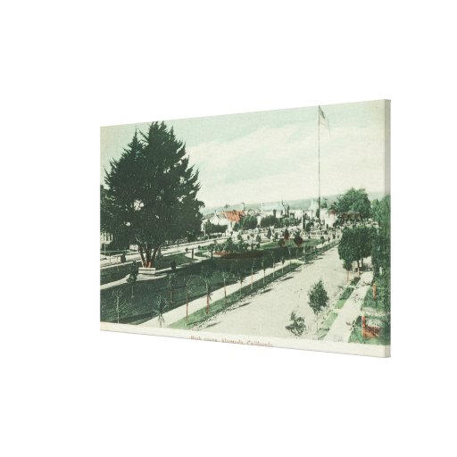 View of a City ParkAlameda, CA Gallery Wrap Canvas