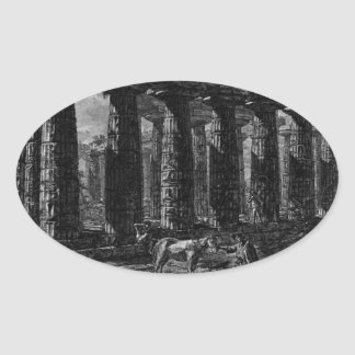 View of a colonnade forming a quadrilateral oval sticker