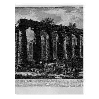 View of a colonnade forming a quadrilateral postcard