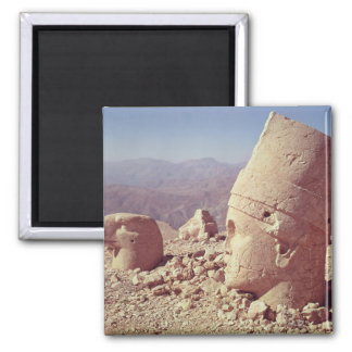 View of a colossal head and an eagle fridge magnets