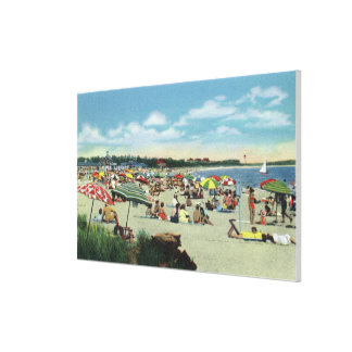View of a Crowded Craigville Beach Canvas Print