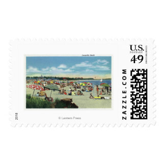 View of a Crowded Craigville Beach Postage
