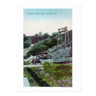 View of a Diamond MineOroville, CA Postcard