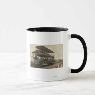 View of a Double Decker Cable Car Mug