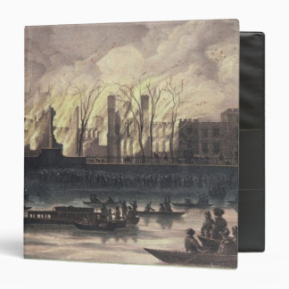 View of a fire at Whitehall Palace Binder