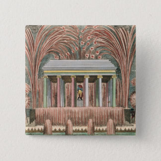 View of a firework display pinback button