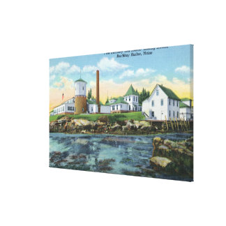 View of a Fish Hatchery, Lobster Rearing Canvas Print