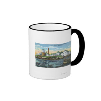 View of a Fish Hatchery, Lobster Rearing Mugs