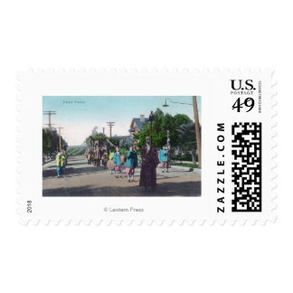 View of a Floral ParadeHollister, CA Postage